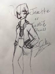 .:Inktober 7:. Janette 'Jami' Sindota by TechnicalTechnicolor