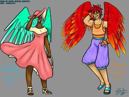.:Mirai no Senshi:. Claudia and Braven Summer Alts by TechnicalTechnicolor