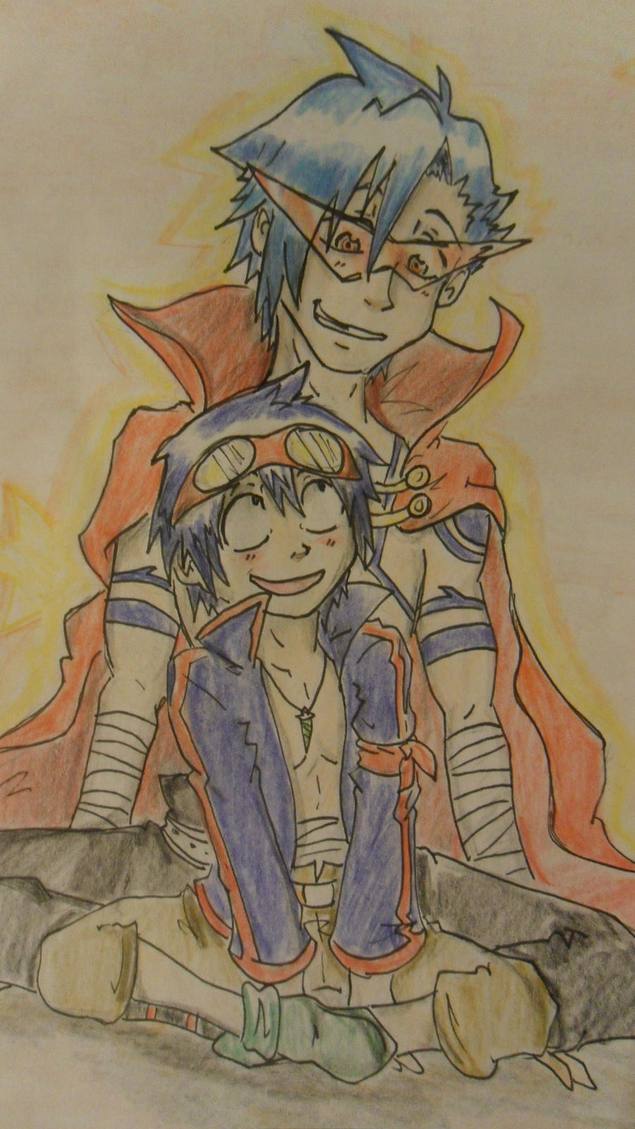 Kamina and Simon. by Hukkis on DeviantArt