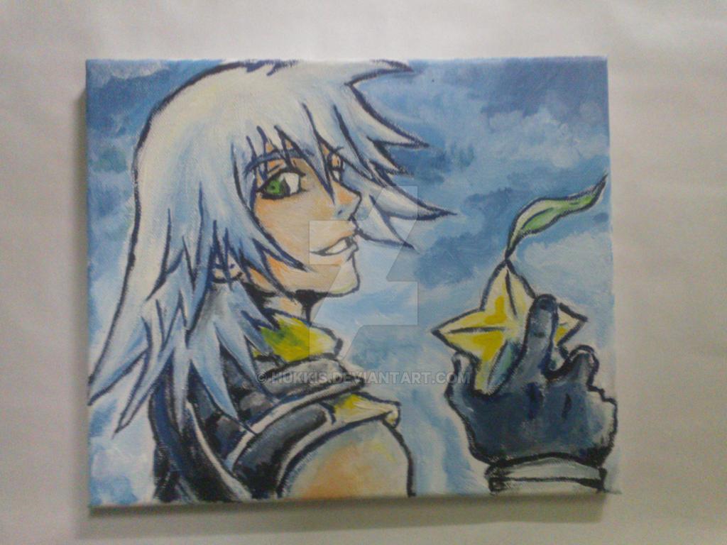 Kindgom Hearts - Riku (Acrylic Painting) by Hukkis