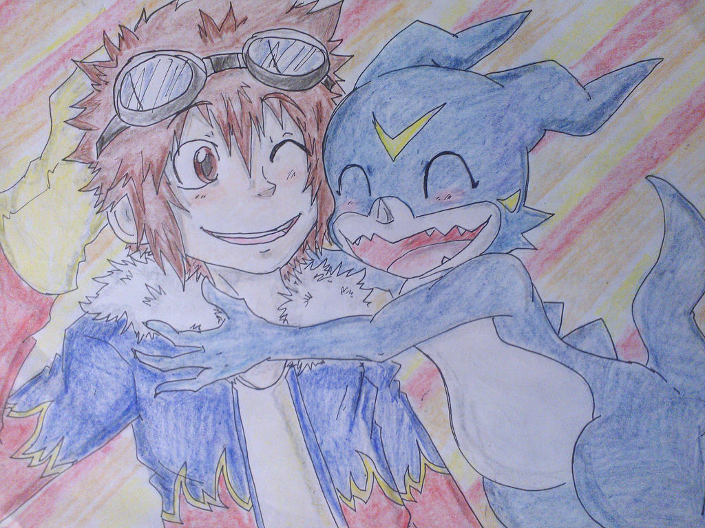 Daisuke and Veemon by Hukkis