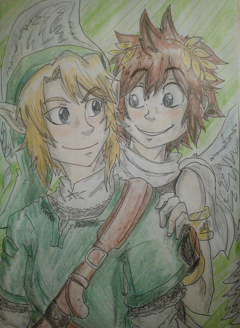 Brave Heroes, Link and Pit by Hukkis