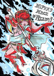 Mipha's MACE is READY [Happy B-Day ThomasBoxxer!] by Hukkis