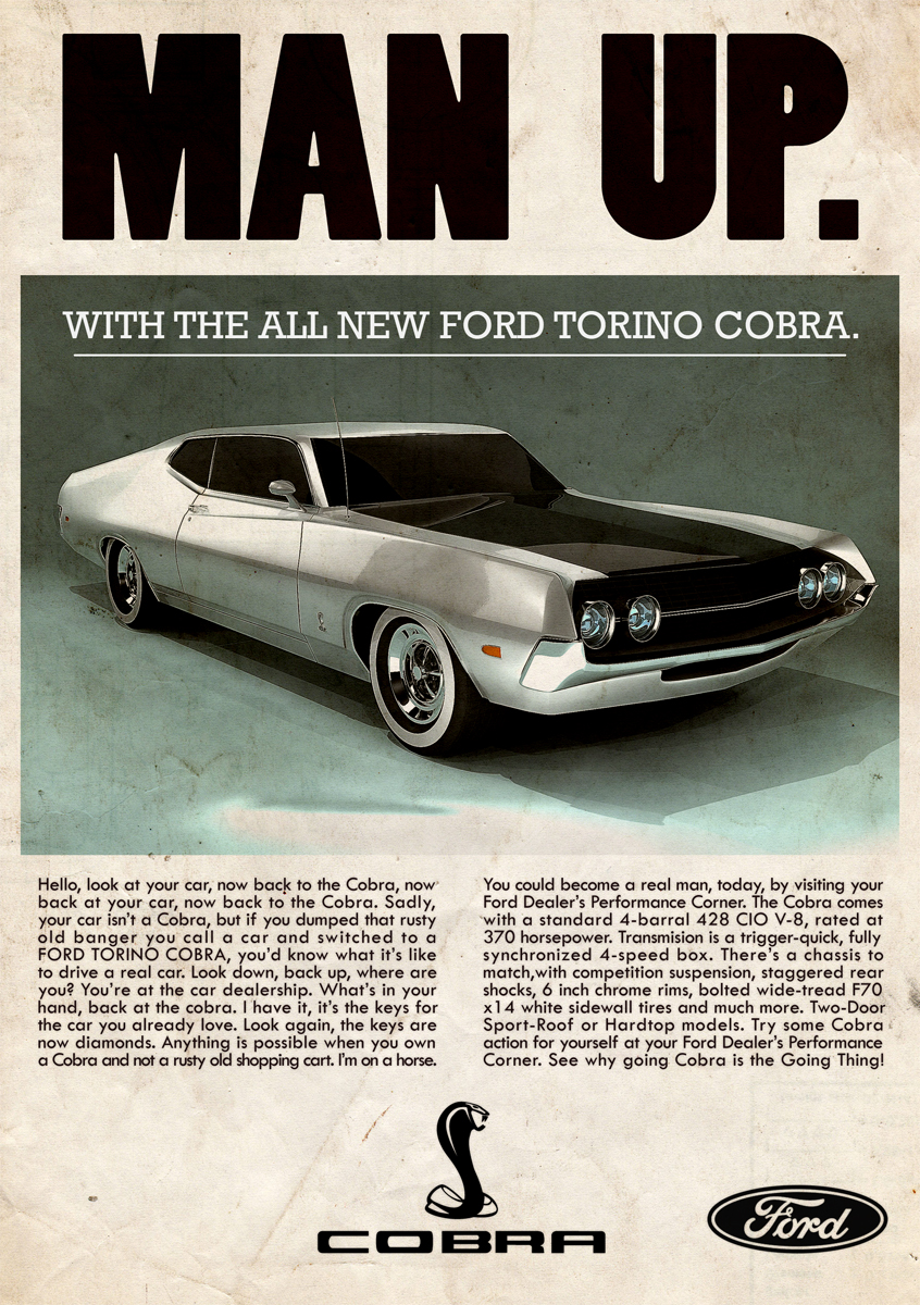 Jim Robinson Ford >> Man up. best car ad ever.   mechanical obsession   Pinterest