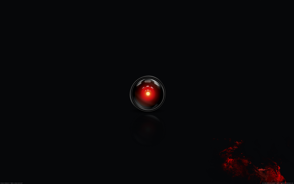 hal9000 black bloody by 3xhumed on deviantart