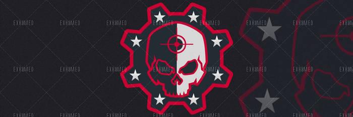 Twitter header Skull red by 3xhumed