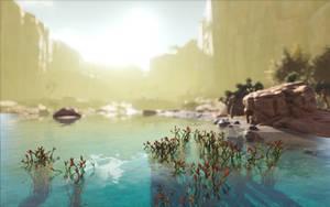 ARK  Survival Evolved - Desert Oase by 3xhumed