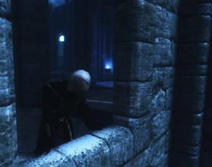 skyrim screenshot: frosty night