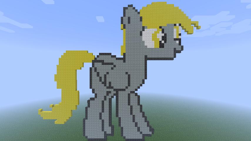 Minecraft Pixel Art- Derpy Hooves by MrEincorporatedd