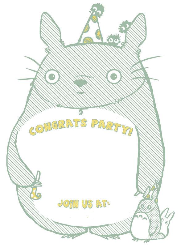 Totoro Party Invitation by Marzipanapple on DeviantArt