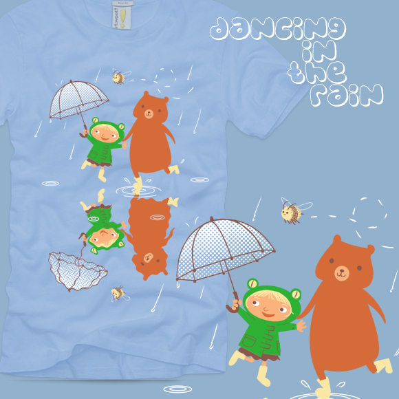 Dancing in the Rain T-shirt by Applefritter