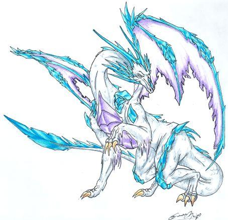 Ice Dragon by Sinnabelle on DeviantArt
