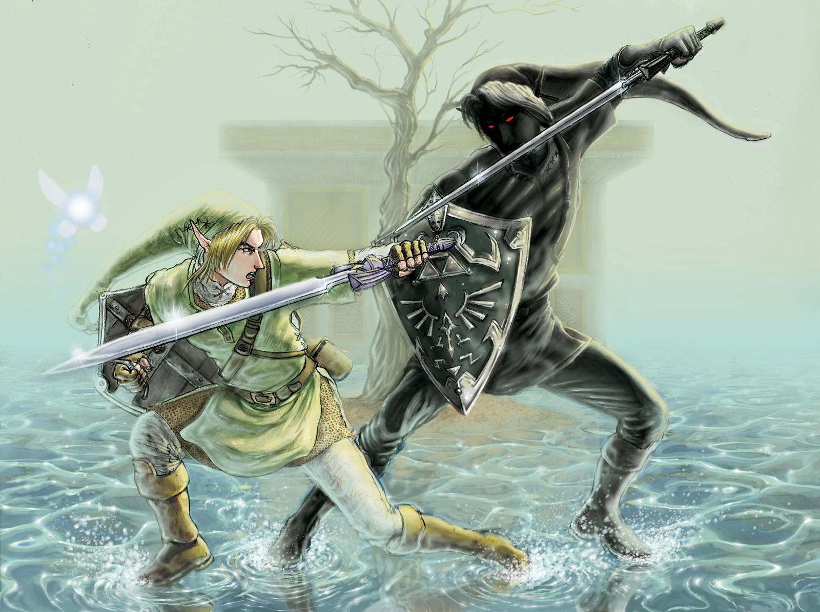 Link's reflection - Dark Link by iangoudelock