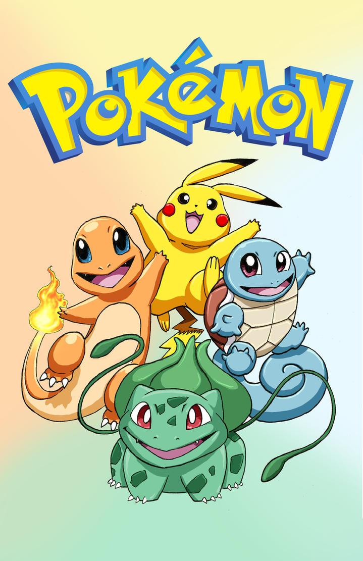 Poke Starters (and Pikachu!) by iangoudelock
