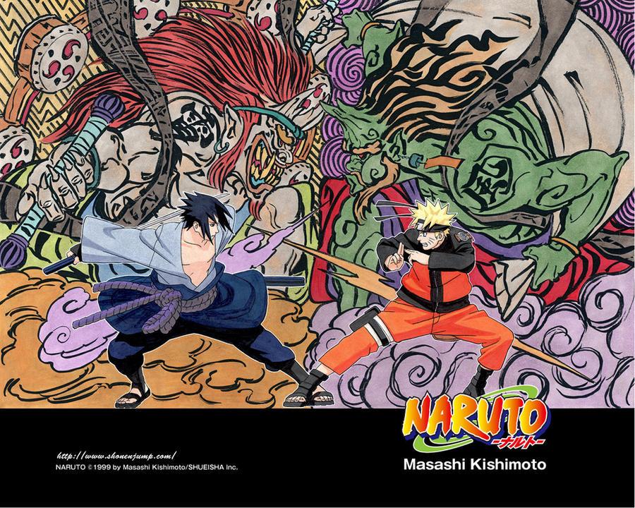 Naruto VS Sasuke Wallpaper By Okami105