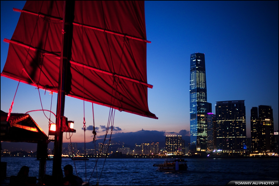 Victoria Harbour at Night by tommyauphoto