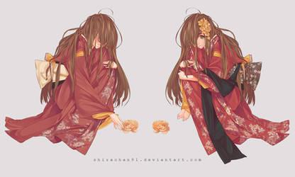 Kimono girl by shirachan91