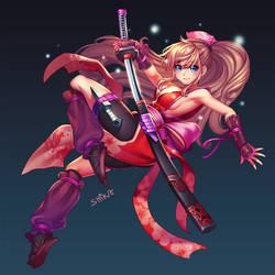 ninja girl by shirachan91
