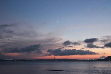 Moon over Okinawa