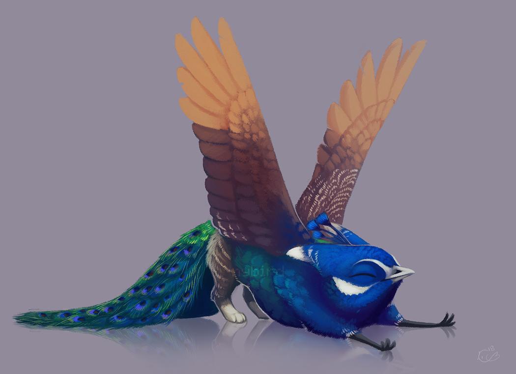 Inktober - 25. Tired by nybird