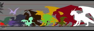 The Witcher - Dragon comparison chart