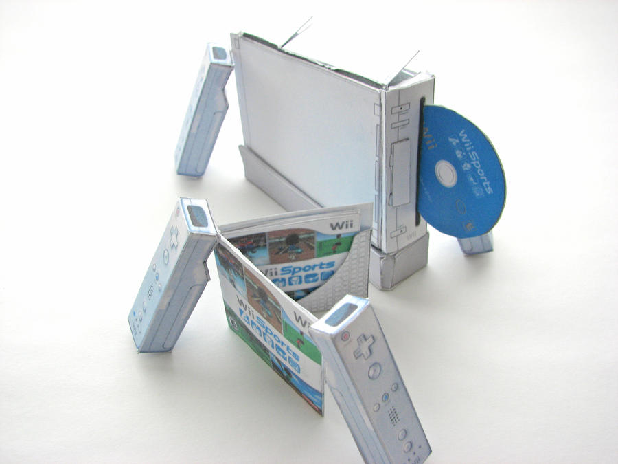 Mini papercraft Wii by EccoingMark