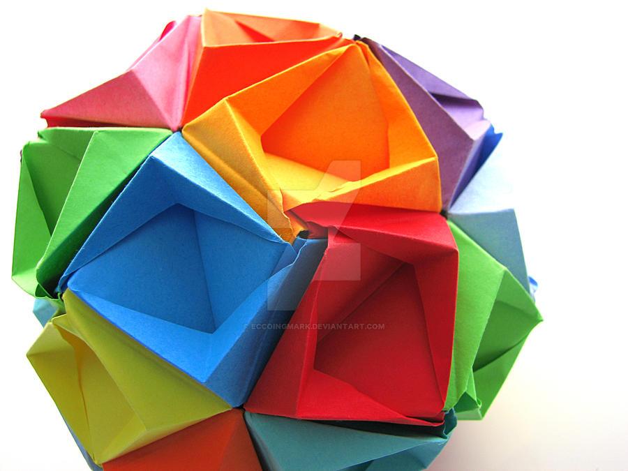 Origami BukyBall ZigZag Module By YukiSakuma Kusudama EccoingMark