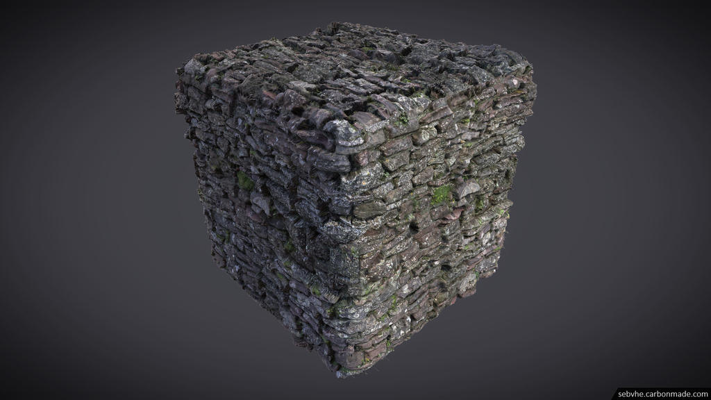 Photogrammetry Texture 02 : Low Wall 01 by Sebvhe