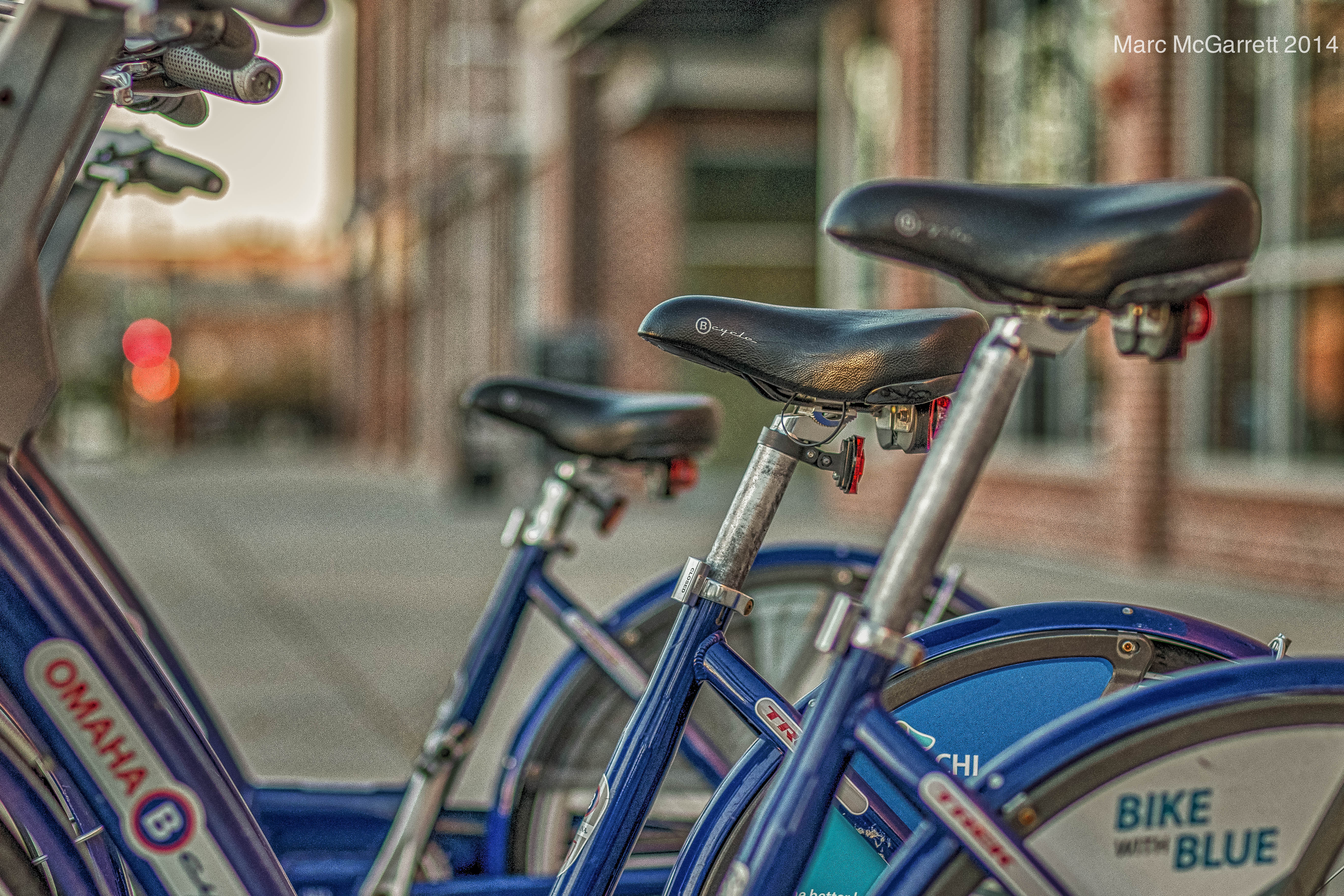Bikes On Bike Blue by hargrovestrong