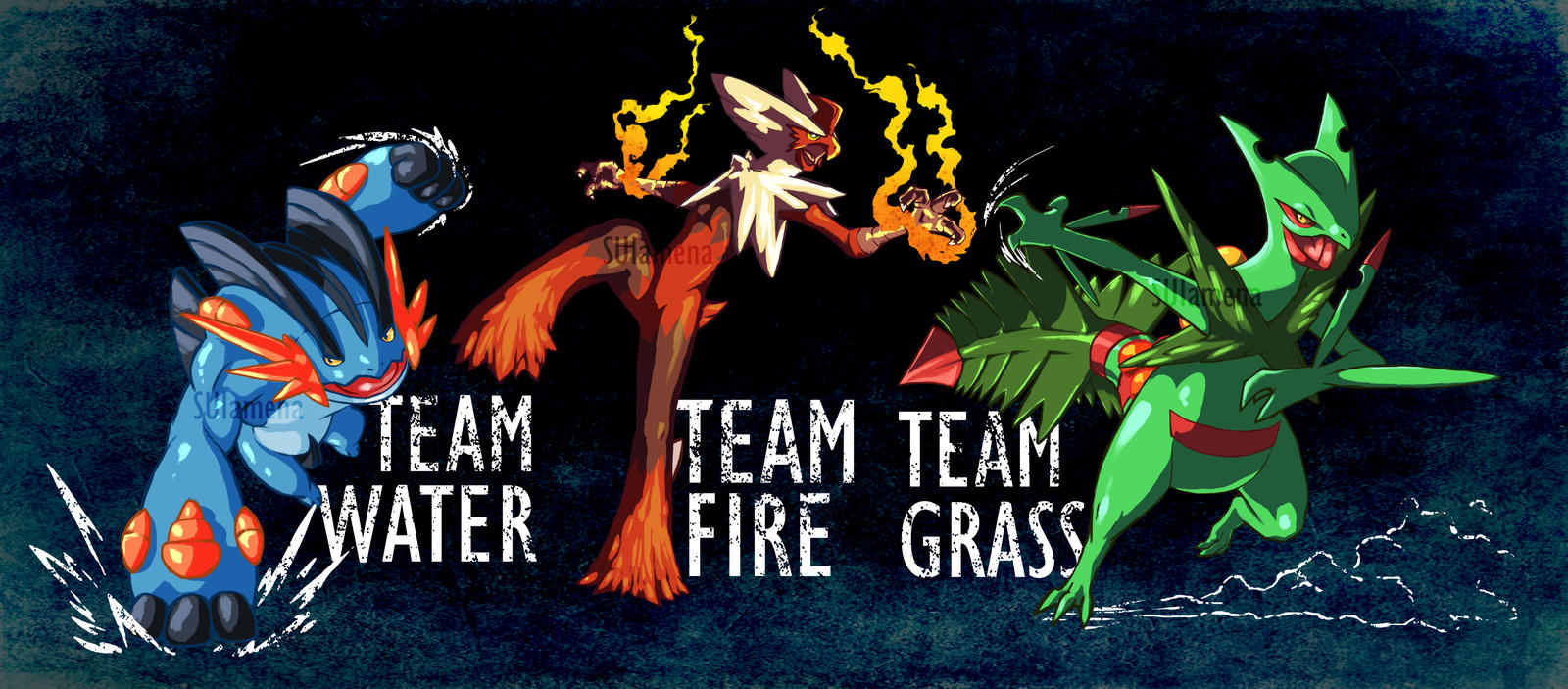 Mega Starters Pokemon Alpha Saphire Omega Ruby By Suiamena On Deviantart