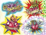Tattoo Flash - hearts