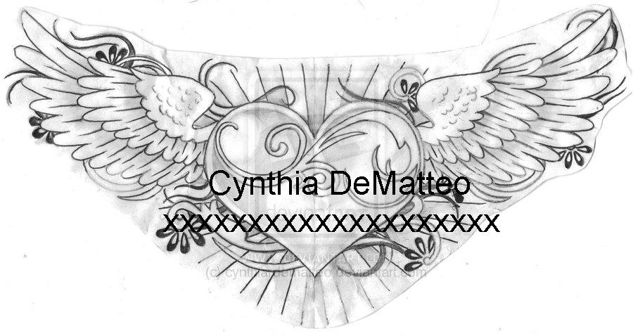 heart with wings design by cynthiardematteo on deviantart. Black Bedroom Furniture Sets. Home Design Ideas