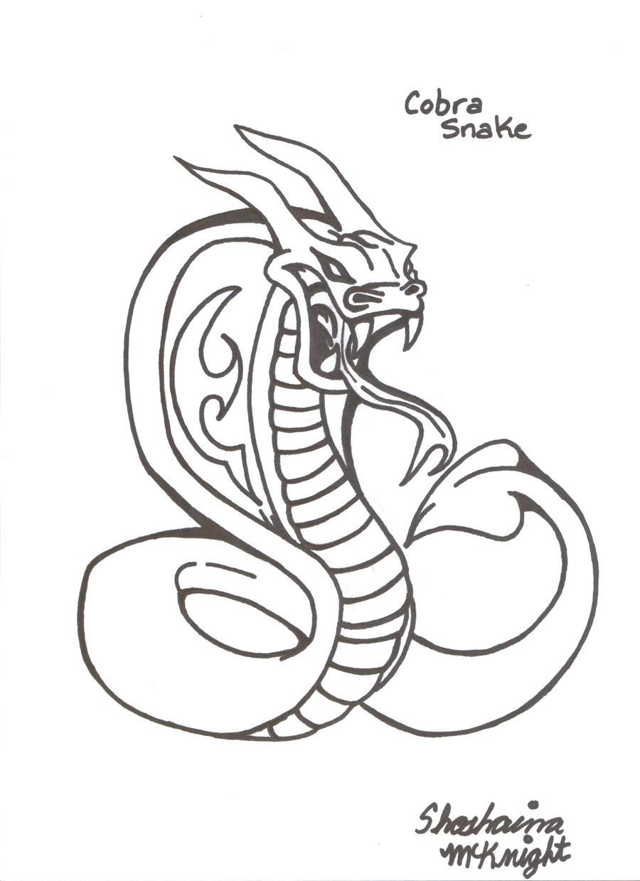 cobra snake tattoo by shaina773 on deviantart. Black Bedroom Furniture Sets. Home Design Ideas