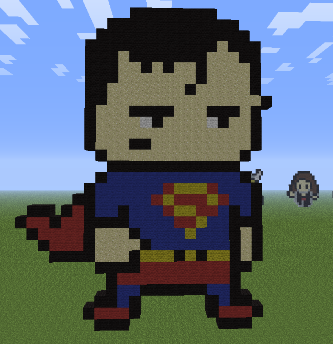 Minecraft Superman Chibi By Aprilgoddess On Deviantart