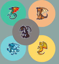 Wings Of Fire Badges