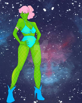 Space Babes. Babes in Space