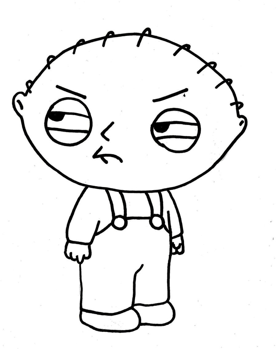 Stewie family guy by beatstoker on deviantart for Coloring pages family guy