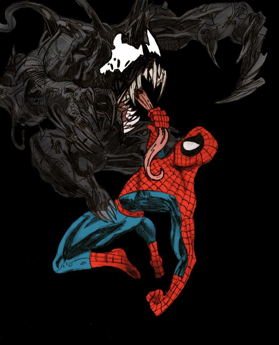 Venom vs Spiderman by ChocolateBiscuits on DeviantArt