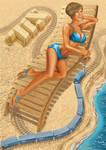Vector illustrations for calendar: June by GruberJan