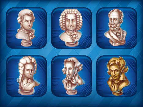 Collection Busts of great composers