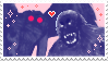 mothman x bigfoot stamp by virl0