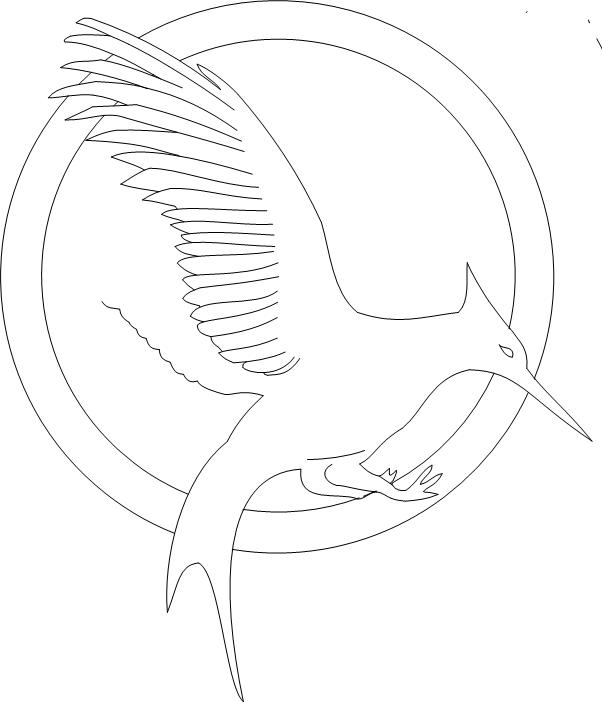 ** Hunger Games Mockingjay Logo | Hunger games party ... |Hunger Games Mockingjay Pin Outline