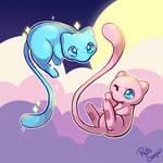 Shiny Mew and Mew