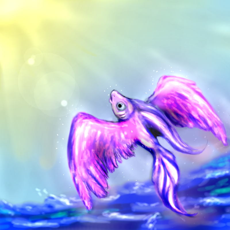 Flying fish impossible dream by sensum on deviantart for Dream about fish