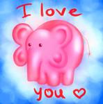 Pink Elephant Trunkie