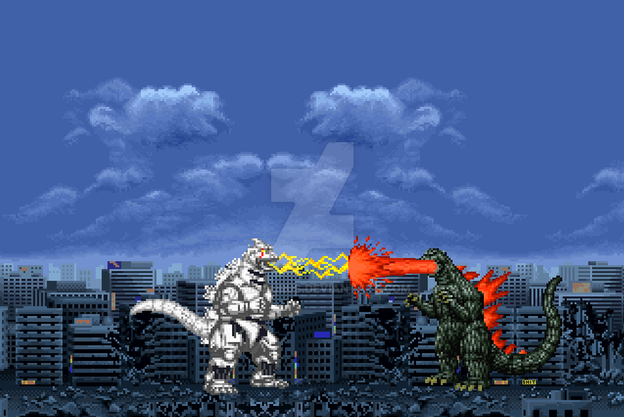 Godzilla vs Kiryu-2002 by T0misaurus on DeviantArt