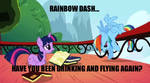 Rainbow Dash:Drinking N Flying