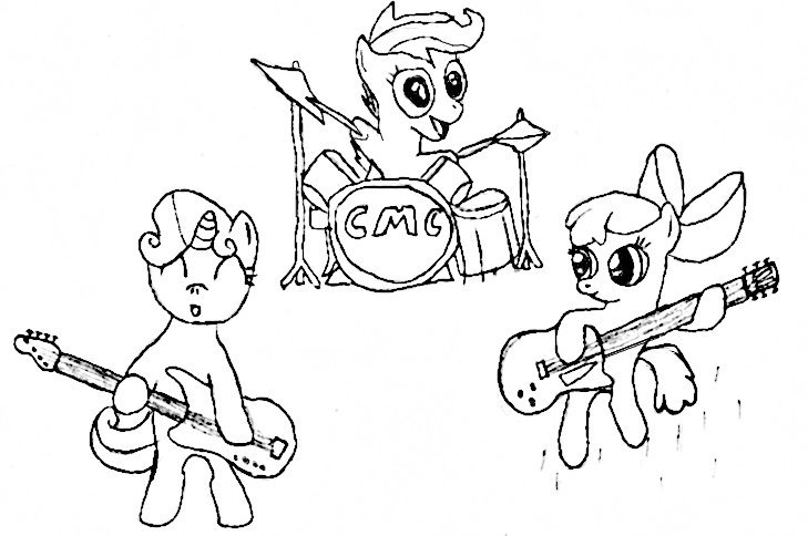 cutiemark crusaders free colouring pages