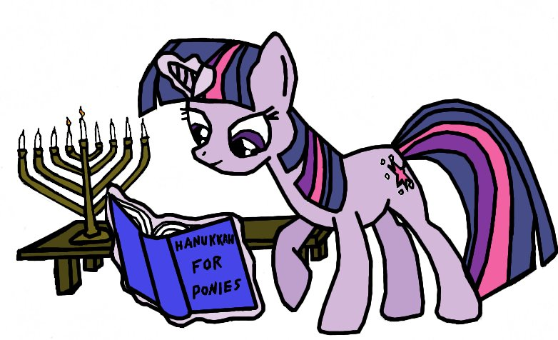 Twilight Sparkle: Studying Hanukkah by Closer-To-The-Sun