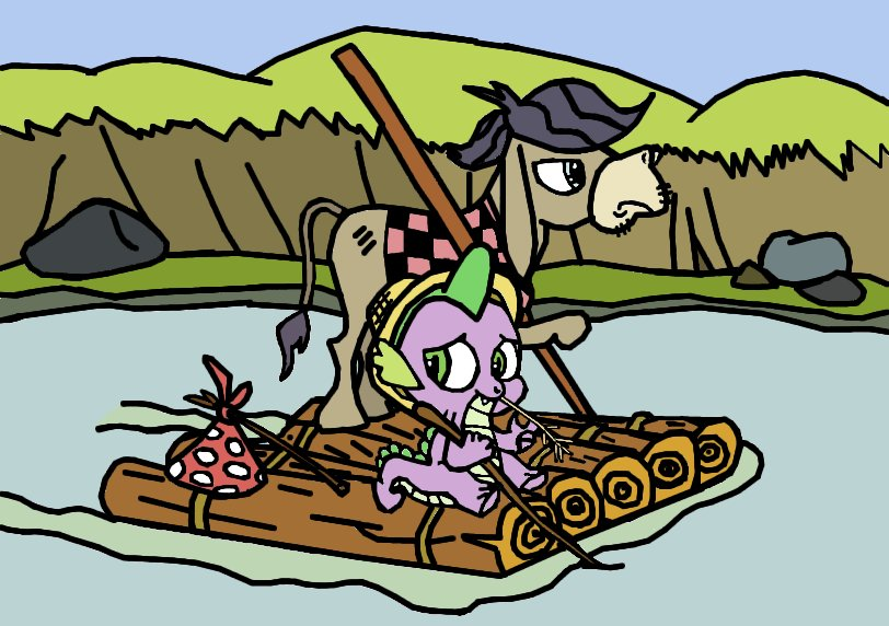 Rafting with Huckleberry Spike and Cranky Jim by Closer-To-The-Sun